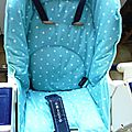 High chair seat cover / coussin de chaise haute