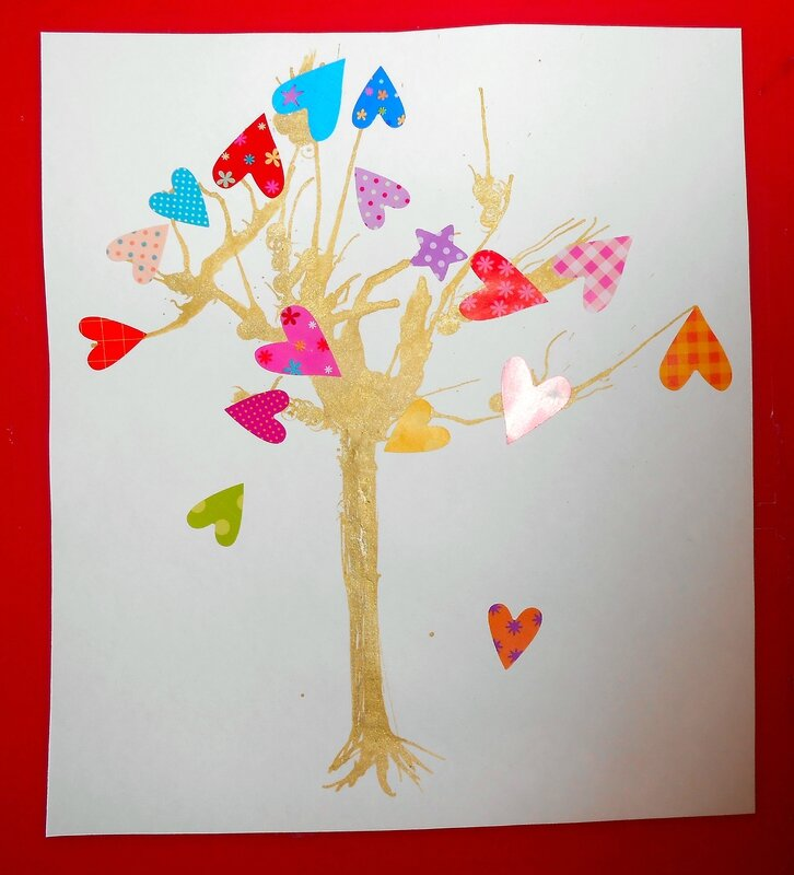 peinture-enfant-enfants-activité-manuelle-paille-fleurs-cheveux-arbre-tableau (2)