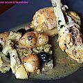 Tajine de poulet au citron confit et aux artichauts