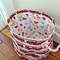 Firetruck fabric storage basket