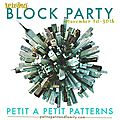 Petit à petit pattern tour - animal after party !