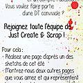 Appel dt chez just create & scrap
