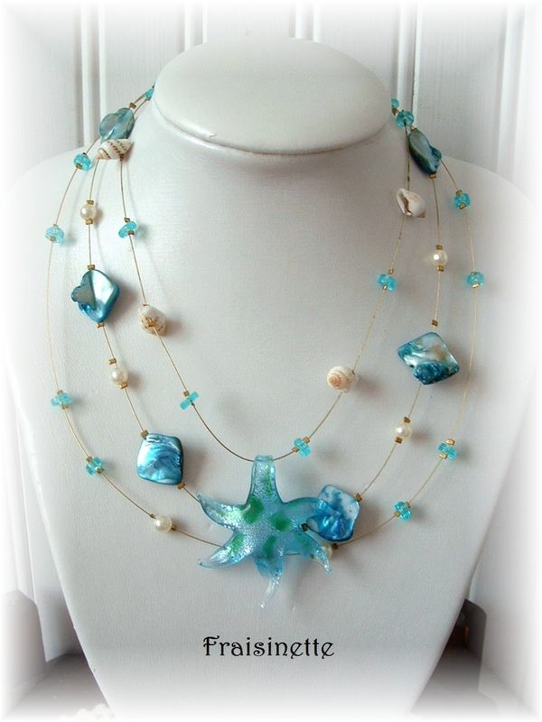 Collier Lagon bleu