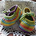 Défi 19 : chaussons de bébé