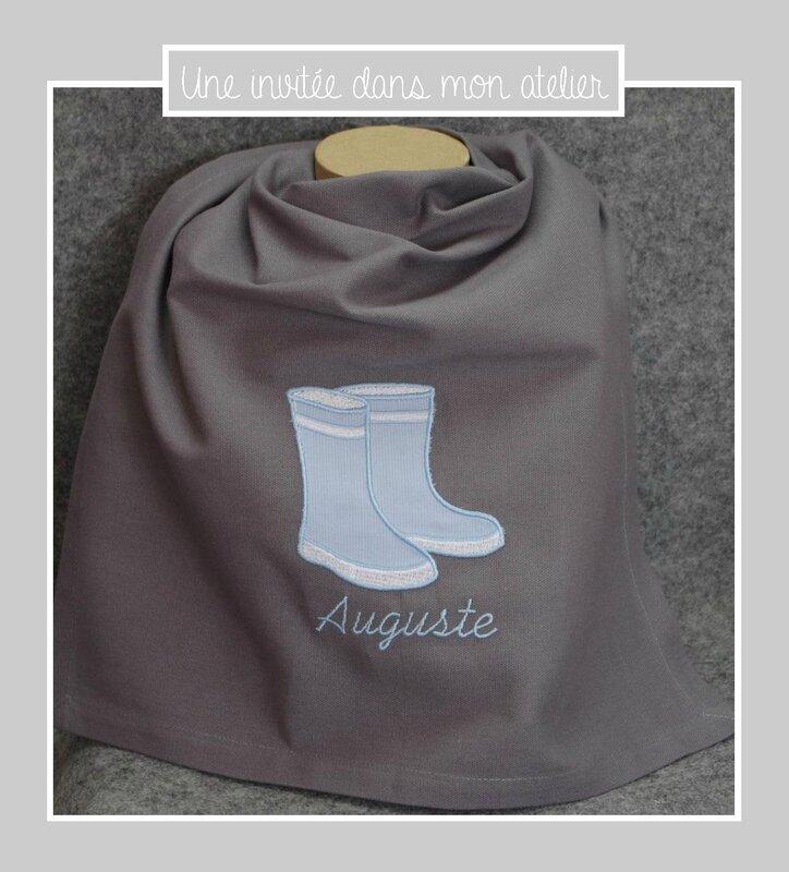 serviette de table-personnalisée-bottes