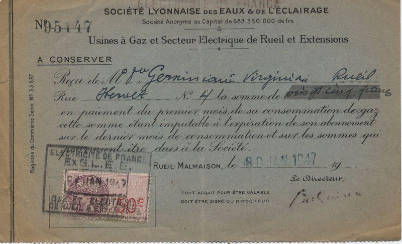 Lyonnaise Des Eaux 1947