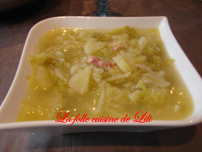 Soupe de choux l 39 ancienne la folle cuisine de lili - La cuisine de lili ...