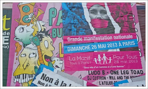 affiches manif anti mariage concert