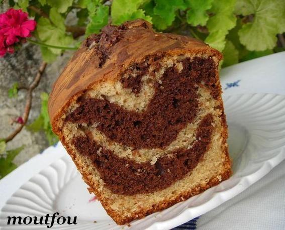 cake aux cacahu tes marbr au chocolat le blog de moutfou. Black Bedroom Furniture Sets. Home Design Ideas