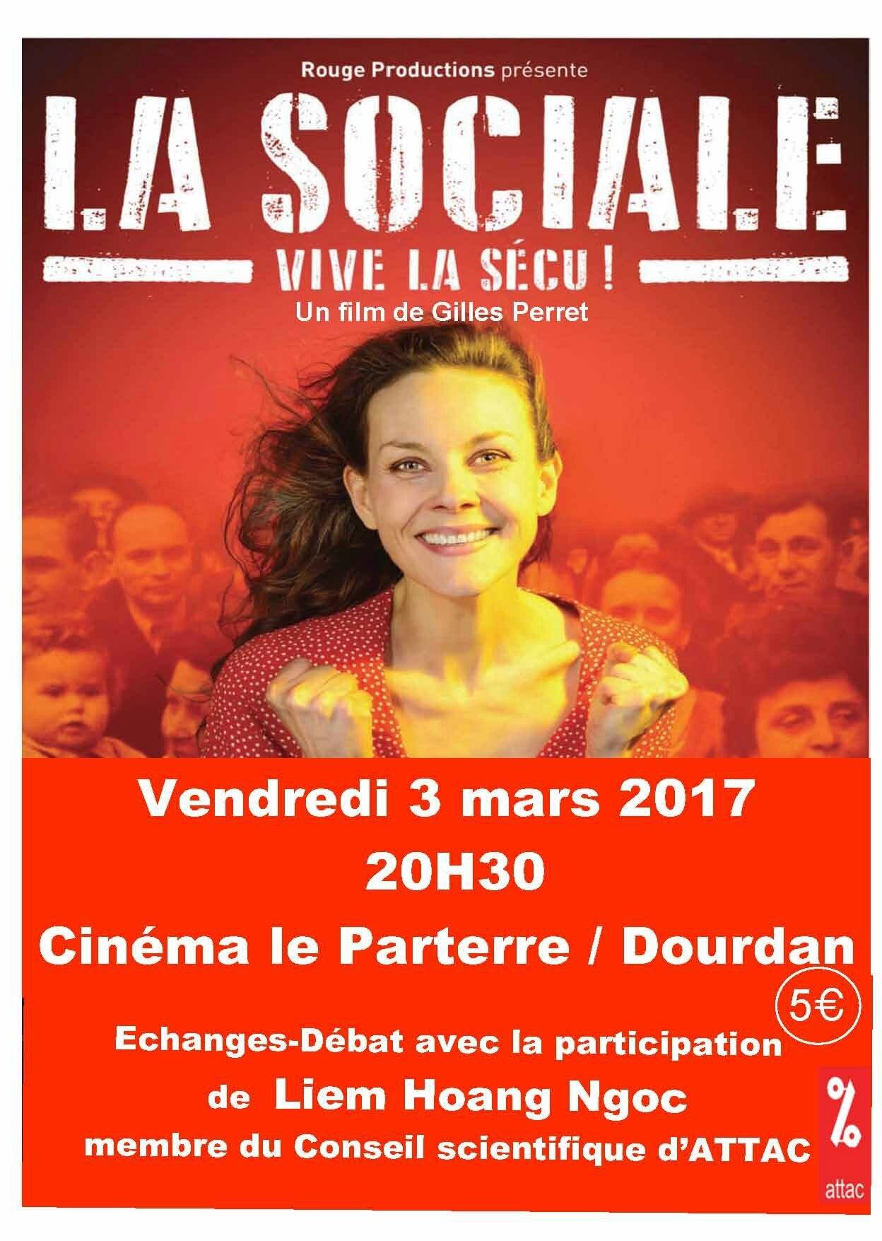 « La Sociale » le vendredi 3 mars 2017 à 20H30 au cinéma Le Parterre de Dourdan