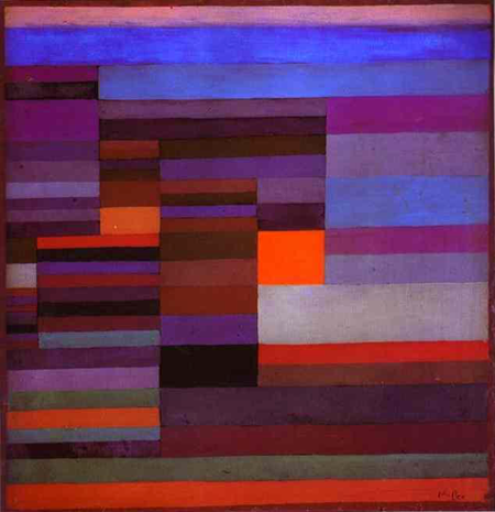 Paul KLEE, Fire in the evening