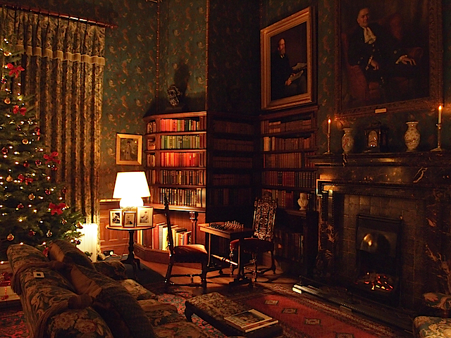dunster castle by candleight