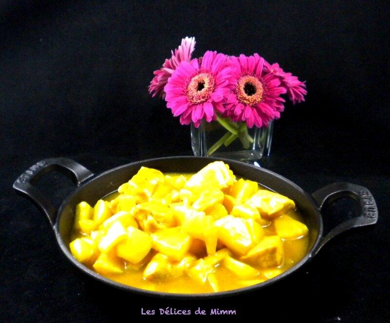 Curry de poulet express aux pommes et ananas 2
