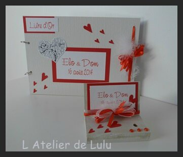 livre d'or mariage rouge
