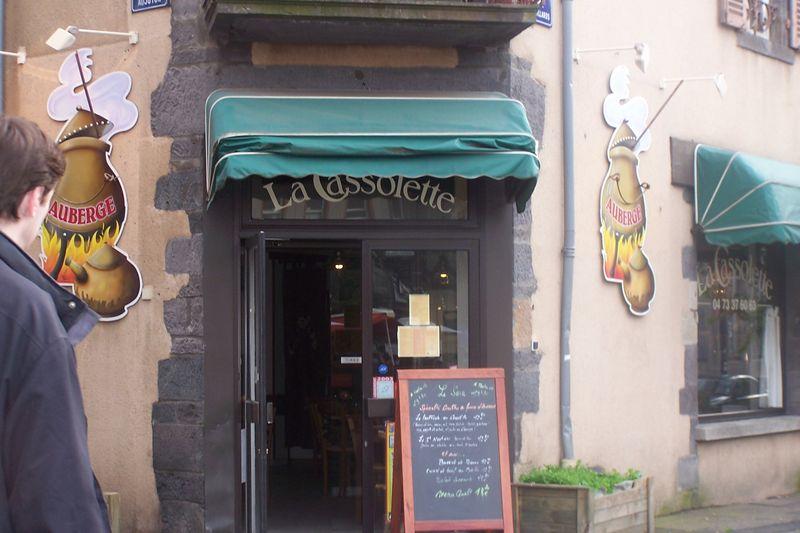 Restaurant La Cassolette à Clermont Ferrand Juillet 2008