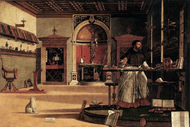 CARPACCIO Vision de St Augustin - Scuola degli Schiavoni Venise