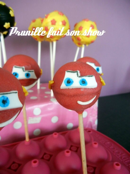 cakepops cars prunillefee