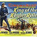 Capitaine king - king of the khyber rifles. henry king (1953)
