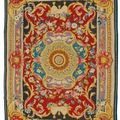 Tapis au point ras, manufacture royale de santa barbara, espagne, madrid, vers 1760