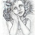 Dessin portrait d'enfant: