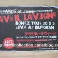 Fiche Promotionnelle japonaise -DVD Bonez Tour 2005 Live Budokan