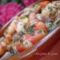 Crevettes poissons marinés