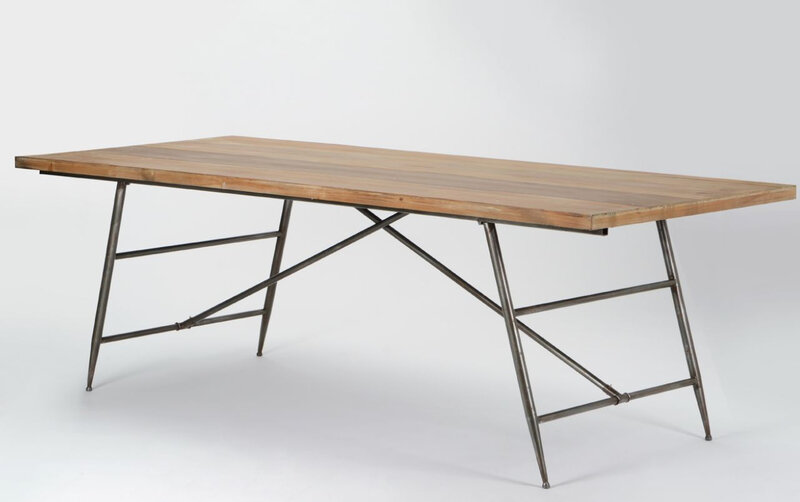 grande table métal bois