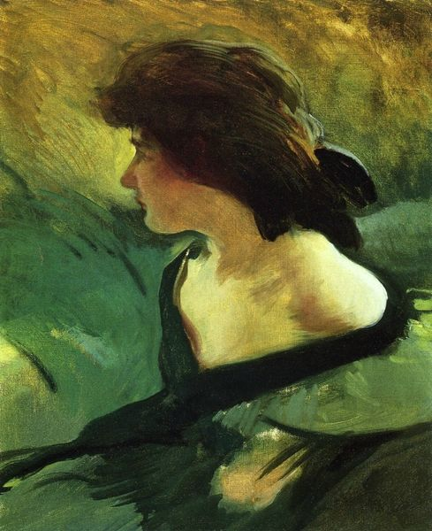 John White Alexander (1856-1915) Young Girl in Green Dress