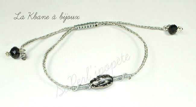 scarabée crystal silver night fil gris 1