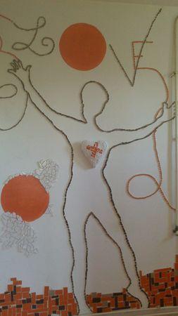 malou mosaique installation autour du thème de l'amour 12