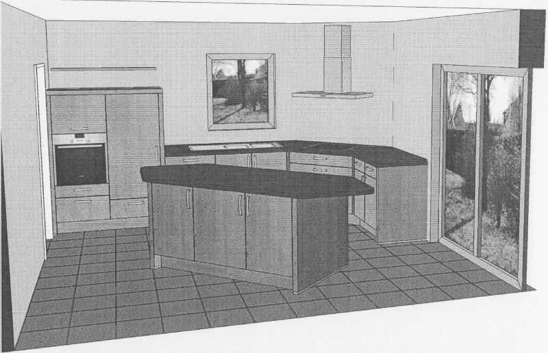 cuisine choisie la maison de lilie et greg. Black Bedroom Furniture Sets. Home Design Ideas
