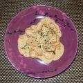 Filets de poulet (marinés) au citron vert, sauce soja, miel, lait de coco et coriandre fraîche (sucré-salé)
