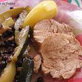 Filet mignon de porc aux courgettes