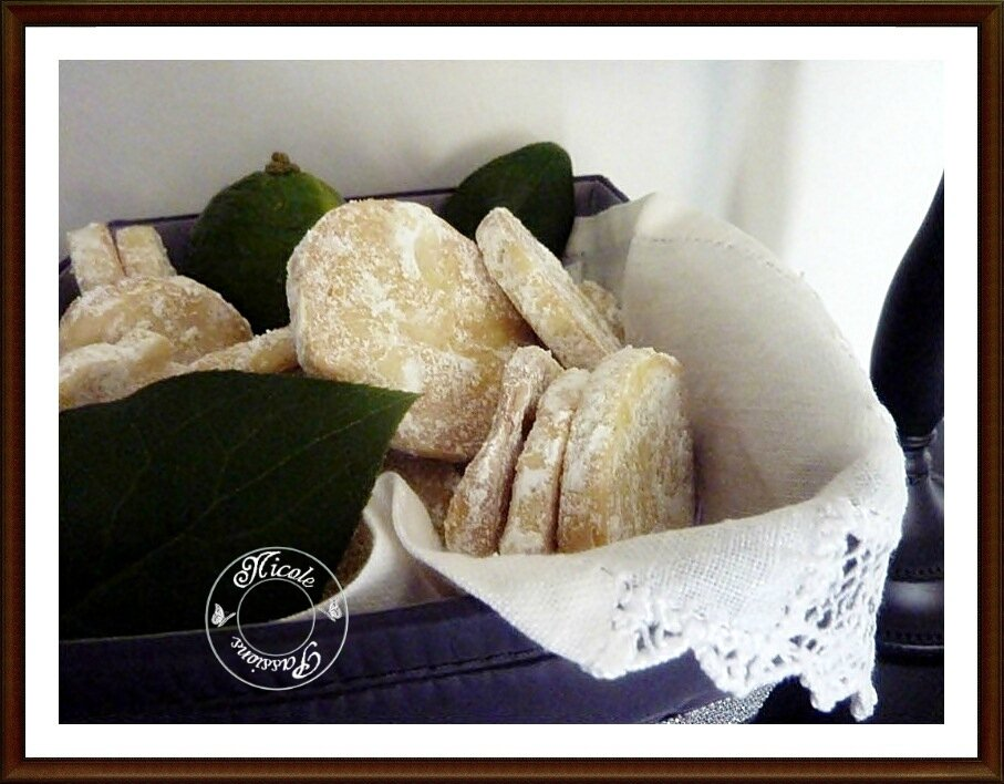 Biscuits fondants au citron vert de Martha Steward.....................