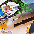 Tableau kirigami, insectes et fleurs...