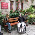 office de tourisme d'Auray,j umelée avec Utting en Allemangne, banc offert par Utting à la ville