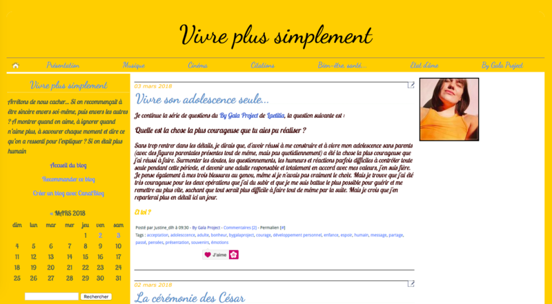 Capture de mon blog