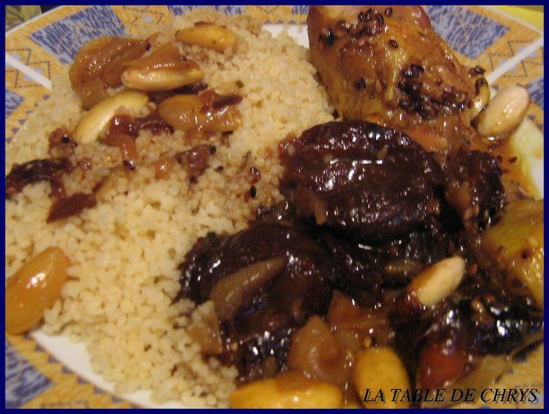 Tajine de poulet aux pruneaux la table de chrys - Plat a tajine pour induction ...