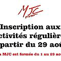 Inscriptions ateliers scrap