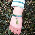 Le Bracelet double lien cuir de Marie-Annick