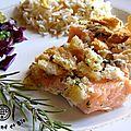 saumon en croûte poivrée