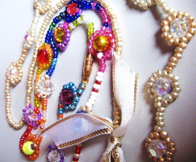 Modele De Collier En Perle Facile : Collier fleur rocaille et cristal extrasystoles cr?atives