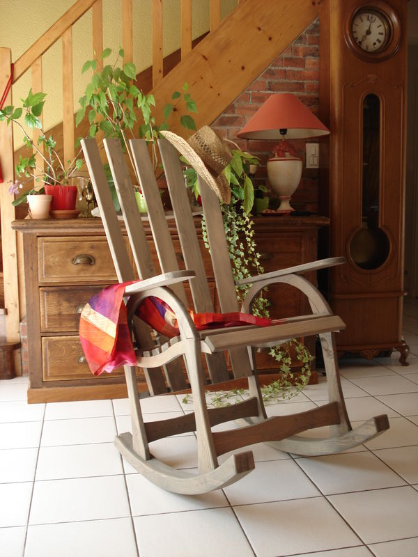 Les plans du rocking chair eric bricol for Fabrication d une chaise en bois