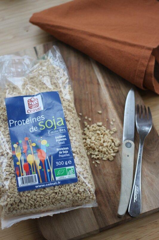 Recette proteines de soja