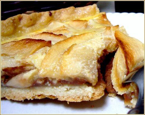 en coupe tarte pomme carambar
