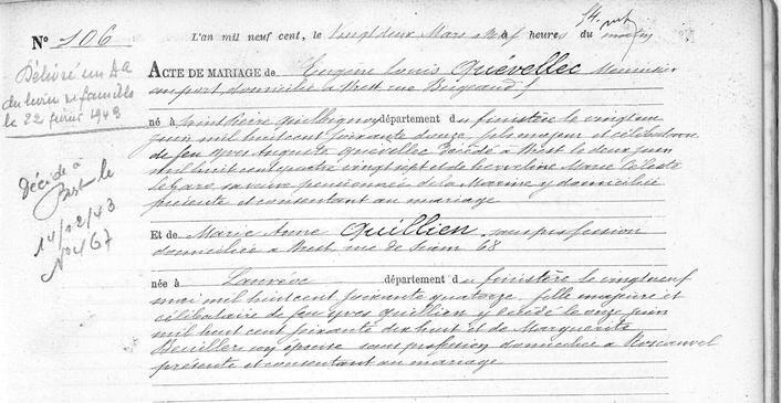 mariage 22 mars 1900 à Brest_1