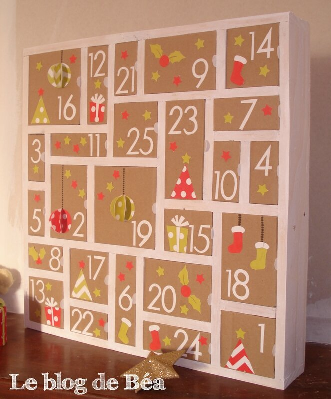 diy calendrier de l 39 avent le blog de b a. Black Bedroom Furniture Sets. Home Design Ideas