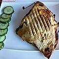 Piadina aux boulettes et aubergine
