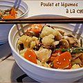Poulet et légumes à la chinoise, sans gluten et sans lactose