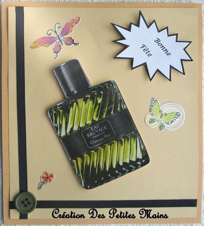 Carte Fête des Pères parfum Dior